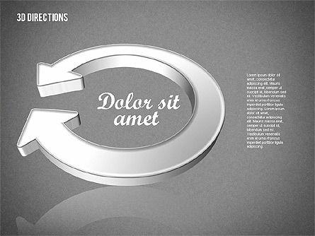 Three Dimensional Arrows, Slide 13, 01881, Shapes — PoweredTemplate.com