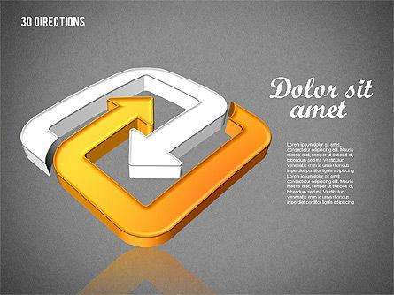Three Dimensional Arrows, Slide 14, 01881, Shapes — PoweredTemplate.com