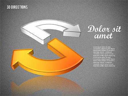 Three Dimensional Arrows, Slide 15, 01881, Shapes — PoweredTemplate.com