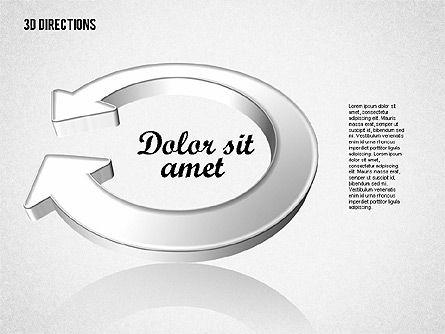 Three Dimensional Arrows, Slide 5, 01881, Shapes — PoweredTemplate.com