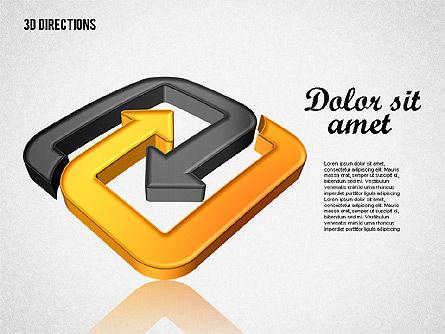 Three Dimensional Arrows, Slide 6, 01881, Shapes — PoweredTemplate.com