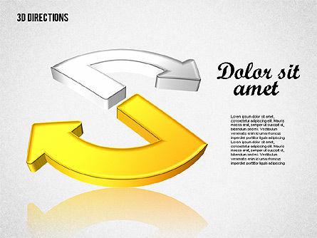 Three Dimensional Arrows, Slide 7, 01881, Shapes — PoweredTemplate.com