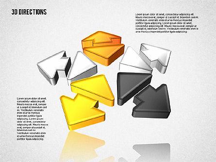 Three Dimensional Arrows, Slide 8, 01881, Shapes — PoweredTemplate.com
