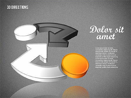 Three Dimensional Arrows, Slide 9, 01881, Shapes — PoweredTemplate.com