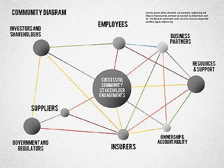 Successful Stakeholder Engagement Diagram, Slide 8, 01883, Process Diagrams — PoweredTemplate.com