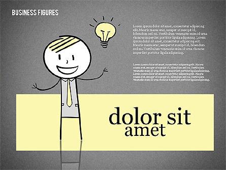 Character Colorful Illustrations, Slide 10, 01885, Shapes — PoweredTemplate.com