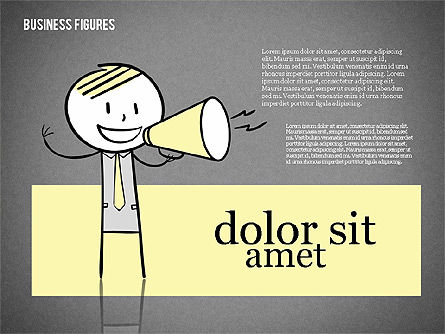 Character Colorful Illustrations, Slide 11, 01885, Shapes — PoweredTemplate.com