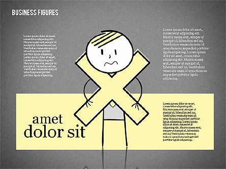 Character Colorful Illustrations, Slide 12, 01885, Shapes — PoweredTemplate.com