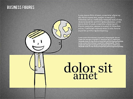 Character Colorful Illustrations, Slide 14, 01885, Shapes — PoweredTemplate.com