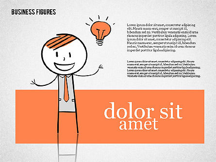 Character Colorful Illustrations, Slide 2, 01885, Shapes — PoweredTemplate.com