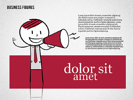 Character Colorful Illustrations, Slide 3, 01885, Shapes — PoweredTemplate.com