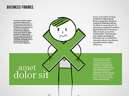 Character Colorful Illustrations, Slide 4, 01885, Shapes — PoweredTemplate.com