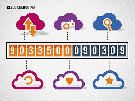 Cloud Solutions Diagram, Slide 8, 01888, Business Models — PoweredTemplate.com