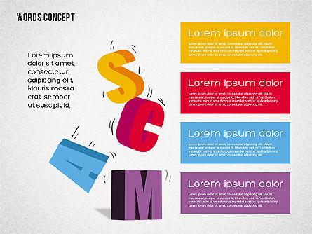 Words Concept Diagram, Slide 2, 01890, Business Models — PoweredTemplate.com