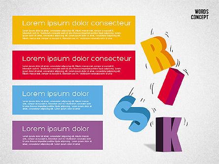 Words Concept Diagram, Slide 4, 01890, Business Models — PoweredTemplate.com