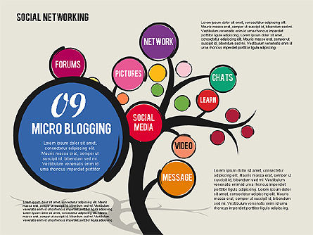 Social Networking Tree, Slide 10, 01891, Presentation Templates — PoweredTemplate.com