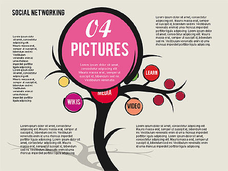 Social Networking Tree, Slide 5, 01891, Presentation Templates — PoweredTemplate.com