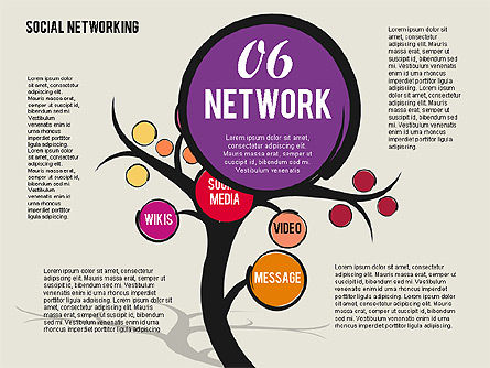 Social Networking Tree, Slide 7, 01891, Presentation Templates — PoweredTemplate.com