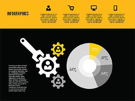 Flat Design Infographics, Slide 15, 01893, Business Models — PoweredTemplate.com