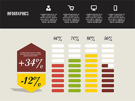 Flat Design Infographics, Slide 5, 01893, Business Models — PoweredTemplate.com