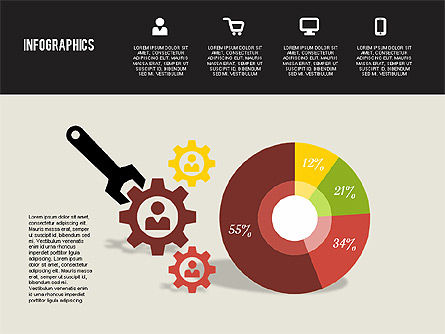 Flat Design Infographics, Slide 7, 01893, Business Models — PoweredTemplate.com