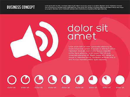 Presentation Templates: Presentation Concept in Flat Design #01894