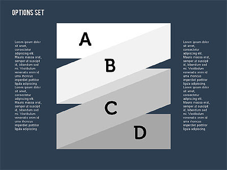 Origami Style Stages in Flat Design, Slide 12, 01897, Shapes — PoweredTemplate.com