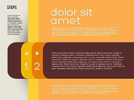 Presentation Agenda in Flat Design, Slide 2, 01899, Stage Diagrams — PoweredTemplate.com