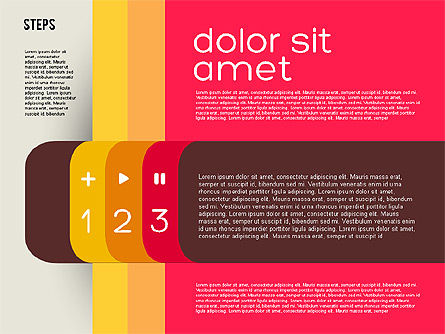 Presentation Agenda in Flat Design, Slide 3, 01899, Stage Diagrams — PoweredTemplate.com