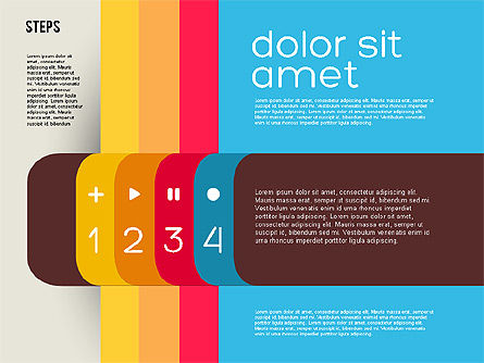 Presentation Agenda in Flat Design, Slide 4, 01899, Stage Diagrams — PoweredTemplate.com