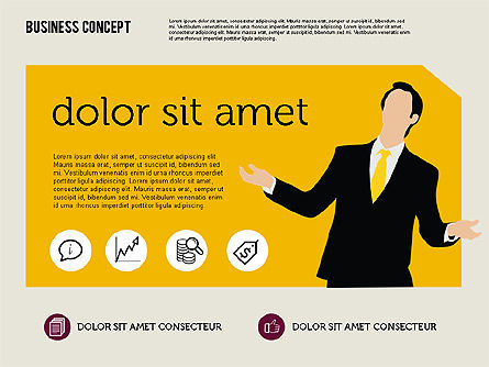 Presentation Templates: Presentation with Silhouettes in Flat Design #01900