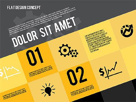 Modern Flat Design Presentation, Slide 10, 01901, Presentation Templates — PoweredTemplate.com