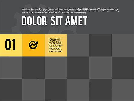 Modern Flat Design Presentation, Slide 11, 01901, Presentation Templates — PoweredTemplate.com