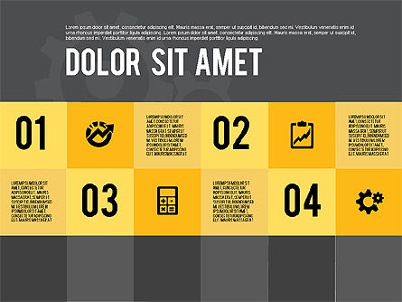 Modern Flat Design Presentation, Slide 14, 01901, Presentation Templates — PoweredTemplate.com