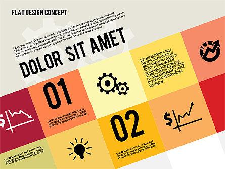 Modern Flat Design Presentation, Slide 2, 01901, Presentation Templates — PoweredTemplate.com