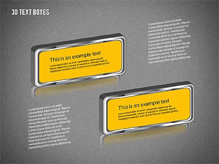 3D Text Boxes, Slide 10, 01902, Text Boxes — PoweredTemplate.com