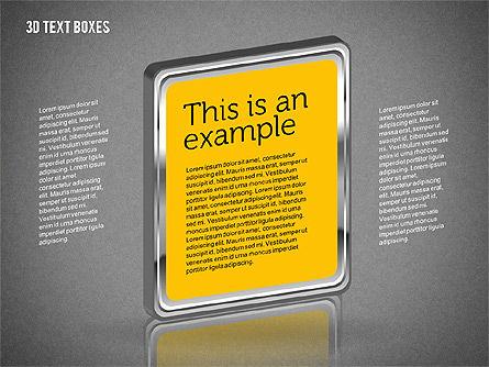 3D Text Boxes, Slide 11, 01902, Text Boxes — PoweredTemplate.com