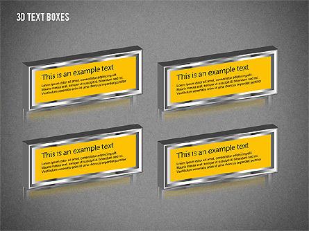 3D Text Boxes, Slide 12, 01902, Text Boxes — PoweredTemplate.com