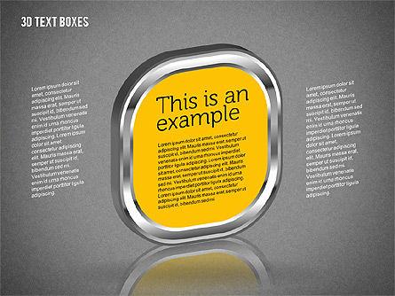 3D Text Boxes, Slide 13, 01902, Text Boxes — PoweredTemplate.com