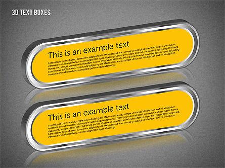 3D Text Boxes, Slide 14, 01902, Text Boxes — PoweredTemplate.com