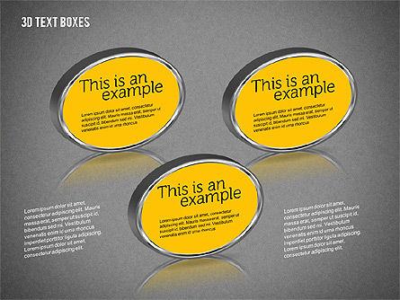 3D Text Boxes, Slide 16, 01902, Text Boxes — PoweredTemplate.com
