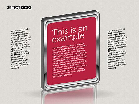 3D Text Boxes, Slide 3, 01902, Text Boxes — PoweredTemplate.com