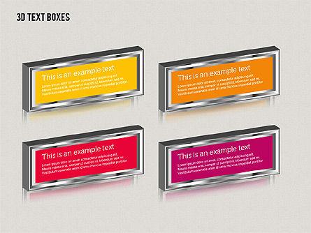 3D Text Boxes, Slide 4, 01902, Text Boxes — PoweredTemplate.com