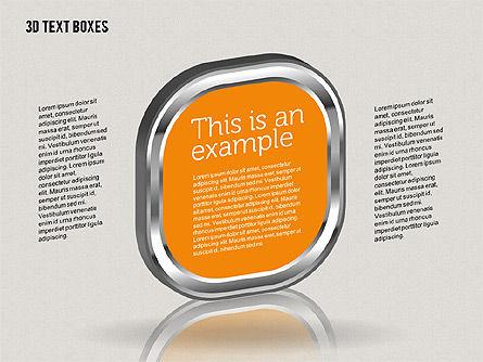 3D Text Boxes, Slide 5, 01902, Text Boxes — PoweredTemplate.com