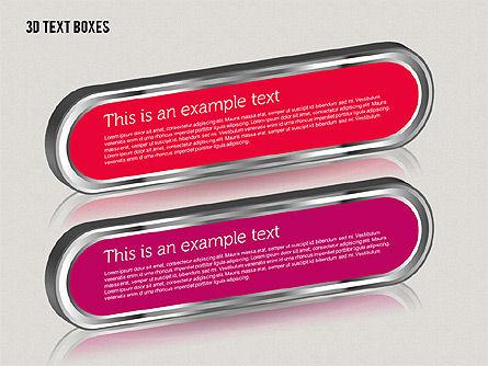 3D Text Boxes, Slide 6, 01902, Text Boxes — PoweredTemplate.com