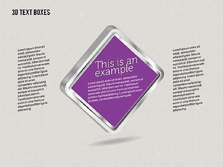 3D Text Boxes, Slide 7, 01902, Text Boxes — PoweredTemplate.com