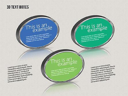 3D Text Boxes, Slide 8, 01902, Text Boxes — PoweredTemplate.com