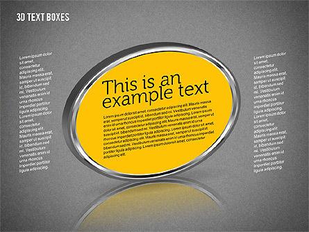 3D Text Boxes, Slide 9, 01902, Text Boxes — PoweredTemplate.com