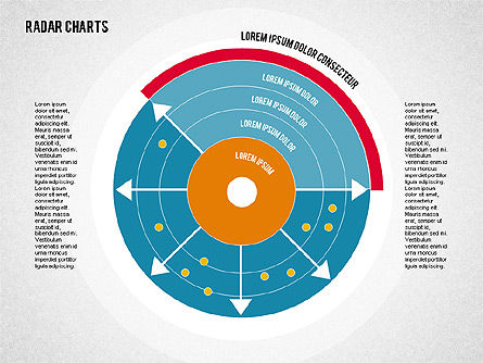 Radar Chart in Flat Style, Slide 4, 01903, Business Models — PoweredTemplate.com