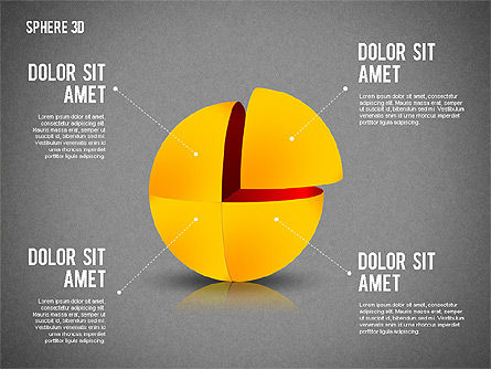 3D Divided Sphere, Slide 10, 01904, Shapes — PoweredTemplate.com